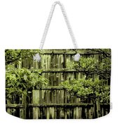 Mossy Bamboo Fence - Digital Art Weekender Tote Bag