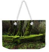 Mossy Fence 3 Weekender Tote Bag