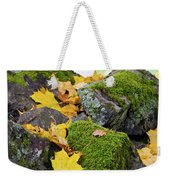 Mossy Stones And Maple Leaves Weekender Tote Bag