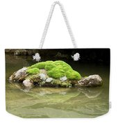 Mossy Turtle Rock Weekender Tote Bag