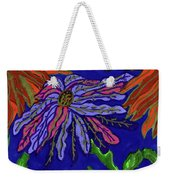 Most Unusual Poinsettia In A Midnight Blue Sky Weekender Tote Bag
