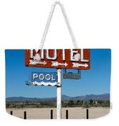 Motel Sign On I-40 And Old Route 66 Weekender Tote Bag