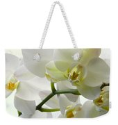 Moth Orchids - White Weekender Tote Bag
