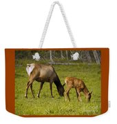 Mother Elk And Fawn Weekender Tote Bag