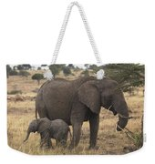 Mother And Baby Elephant Weekender Tote Bag