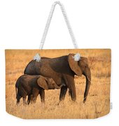 Mother And Baby Elephants Weekender Tote Bag