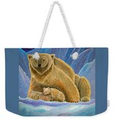 Mother And Baby Polar Bears Weekender Tote Bag