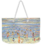 Mother And Child At The Beach Weekender Tote Bag