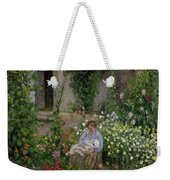 Mother And Child In The Flowers Weekender Tote Bag