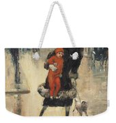 Mother And Child On A Street Crossing Weekender Tote Bag