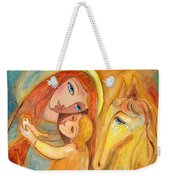 Mother And Child On Horse Weekender Tote Bag