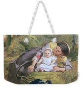 Mother And Child With A Poppy Weekender Tote Bag by Frederick Richard Pickersgil