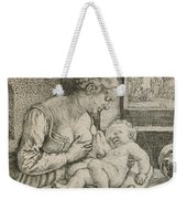 Mother And Child With Skull And Hourglass Weekender Tote Bag