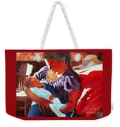 Mother And Newborn Child Weekender Tote Bag