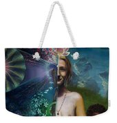 Mother And Son - Passing The Torch Of Vision Weekender Tote Bag