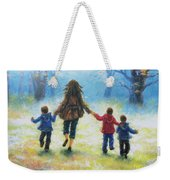 Mother And Three Sons  Weekender Tote Bag