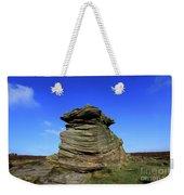 Mother Cap Gritstone Rock Formation, Millstone Edge Weekender Tote Bag