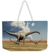 Mother Diplodocus Dinosaur Walks Weekender Tote Bag