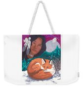Mother Earth Looking Over Her Children Weekender Tote Bag