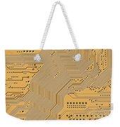 Motherboard - Printed Circuit Weekender Tote Bag by Michal Boubin