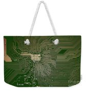 Motherboard Architecture Green Weekender Tote Bag