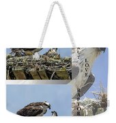 Motherly Love Raptor Style Weekender Tote Bag