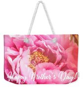 Mother's Day Peony Weekender Tote Bag