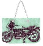 Moto Guzzi Le Mans 3 - Sports Bike - 1976 - Motorcycle Poster - Automotive Art Weekender Tote Bag