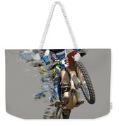 Motocross Rider With Flying Pieces Weekender Tote Bag