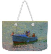 Motor Yacht At Spruce Point Boothbay Harbor Maine Weekender Tote Bag