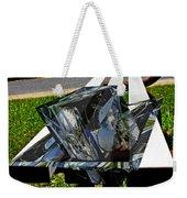 Motorcycle And Park Bench As Art Weekender Tote Bag