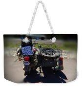 Motorcycle Love Story Weekender Tote Bag