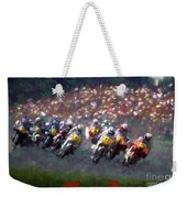 Motorcycle Race Weekender Tote Bag