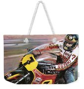 Motorcycle Racing Weekender Tote Bag by Graham Coton