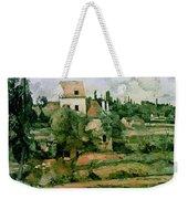 Moulin De La Couleuvre At Pontoise Weekender Tote Bag by Paul Cezanne