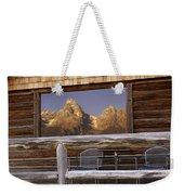 Moulton Ranch Cabin Reflection Grand Tetons Weekender Tote Bag
