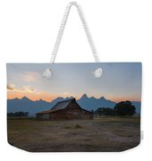 Moulton Ranch Sunset On Mormon Row Weekender Tote Bag