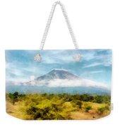 Mount Agung On The Island Paradise Of Bali Weekender Tote Bag