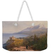 Mount Athos And The Monastery Weekender Tote Bag