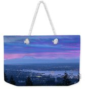 Mount Baker And Vancouver Bc At Dawn Weekender Tote Bag