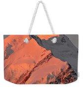 Mount Cook Range On South Island In New Zealand Weekender Tote Bag