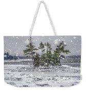 Mount Desert Narrows Snowscape Weekender Tote Bag