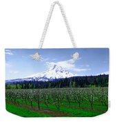 Mount Hood Behind Orchard Blossoms Weekender Tote Bag
