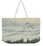 Mount Hood Evening Weekender Tote Bag