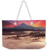 Mount Hood Foggy Sunrise Weekender Tote Bag