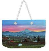 Mount Hood Over Hood River At Sunset Weekender Tote Bag