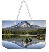 Mount Hood Reflection On Trillium Lake Weekender Tote Bag