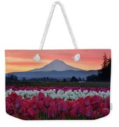 Mount Hood Sunrise With Tulips Weekender Tote Bag