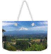 Mount Hood View From Backyard Deck Weekender Tote Bag