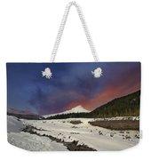 Mount Hood Winter Wonderland Weekender Tote Bag